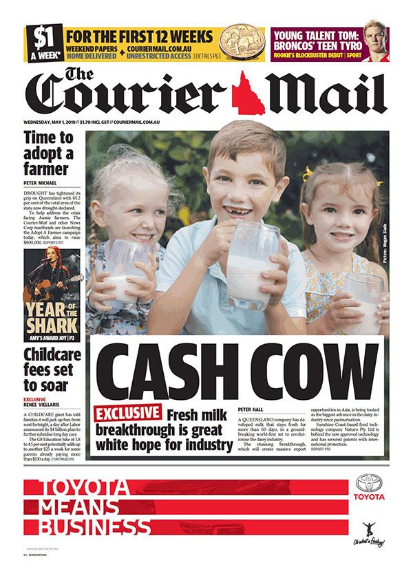 Courier Mail Article Cover 190501